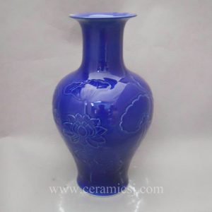 WRYMA14 Blue Decorative flower fish Ceramic Vase
