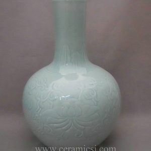 WRYMA20 ball shape light blue decorative Ceramic flower Vase
