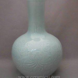 WRYMA20 ball shape light blue decorative Ceramic flower Vase