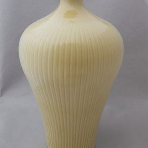 WRYMA35 Pale Yellow Embossed Ceramic Vase
