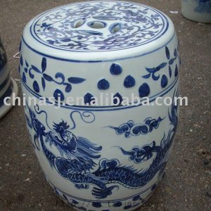 antique Blue and White dragon Ceramic Stool RYAZ320