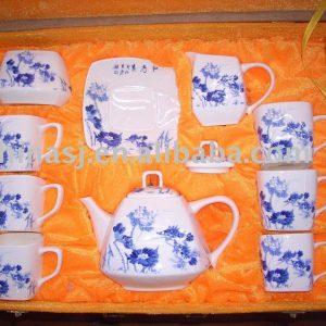 blue and white porcelain tea set WRYAN43