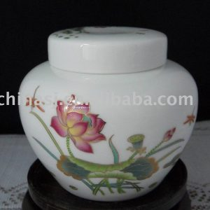 chinese antique ceramic tea caddy RYN43