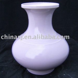 purple glazed porcelain vase