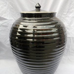 WRYKY13 47cm Black Ginger Jars for sale