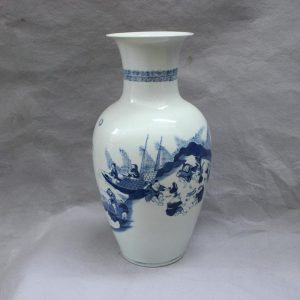 RYVX09 Blue white vases for centerpieces