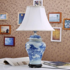 TYLP13 Chinese Hand Painted Ceramic Lamp