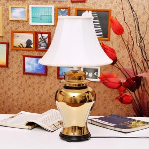 TYLP50 Metal brass gold Porcelain Lamp