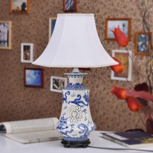TYLP05 Blue White Hollow Out Bedside Lights