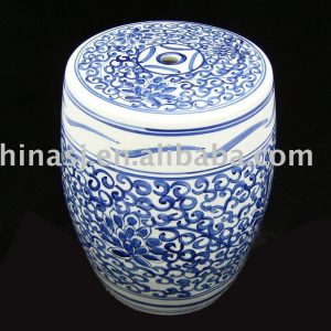 WRYAZ217 Hand painted blue white ceramic bar stools