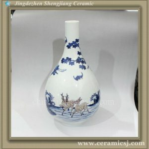 RYWU22 jingdezhen antique hand painted porcelain vase