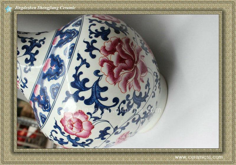 RYXG02 jingdezhen porcelain blue and white vase