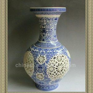 RYXH02 Chinese hollowed-out ceramic vase