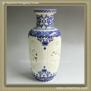 RYXH06 chinese hollowed-out ceramic vase