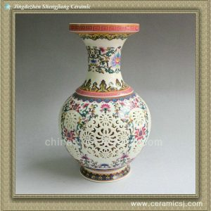 RYXH08 chinese hollowed-out ceramic antique vase