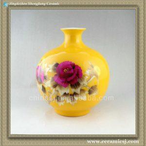 RYXF20 wheat straw ceramic yellow vase