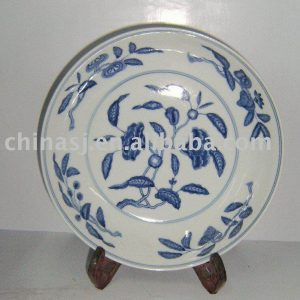 WRYAS52 Blue and White porcelain charger