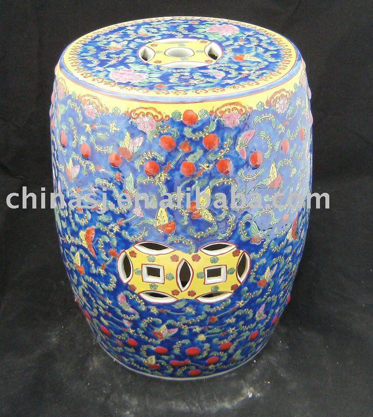 WRYAZ12 Hand paint decorative step stool