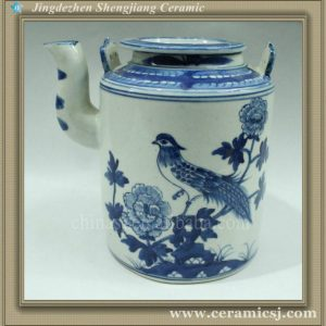 RYWK02 blue and white ceramic tea pot