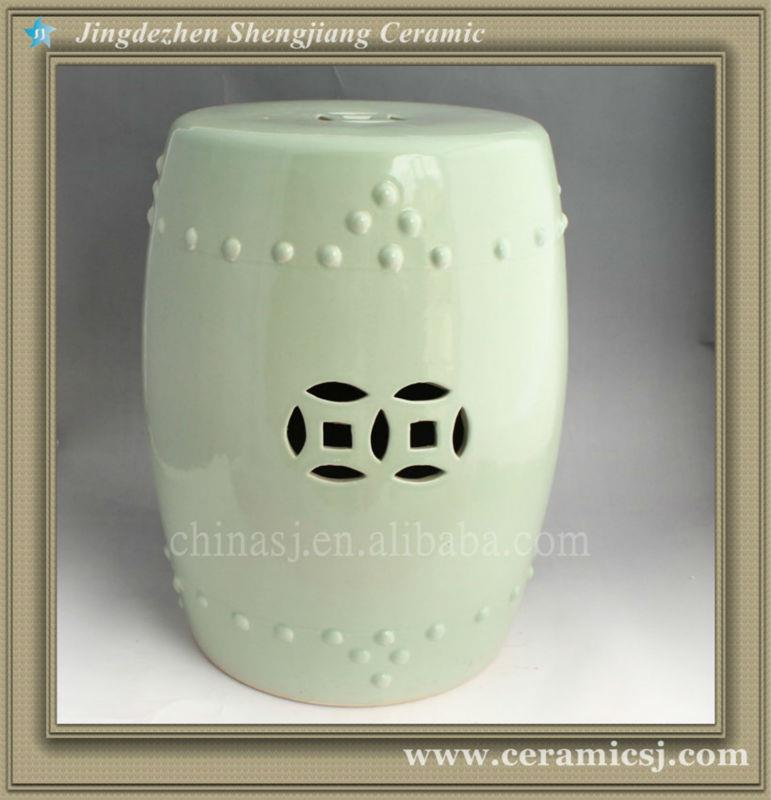 WRYAZ209 light blue Ceramic Garden Stool
