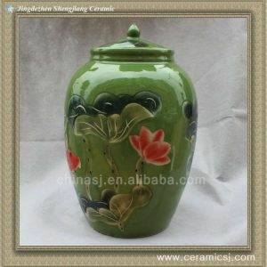RYWW02 Green porcelain Storage Pot