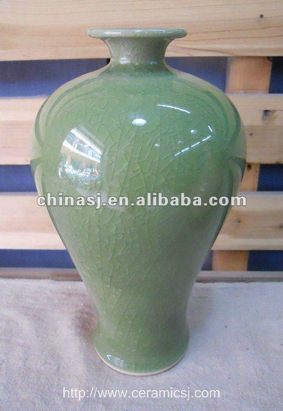 crackled green Meiping porcelain vase WRYMK02