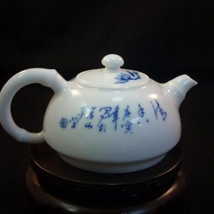 Porcelain tea pot with lotus RYFU02