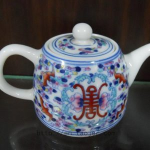 Porcelain Tea Pot with Colorful Pattern RYG85