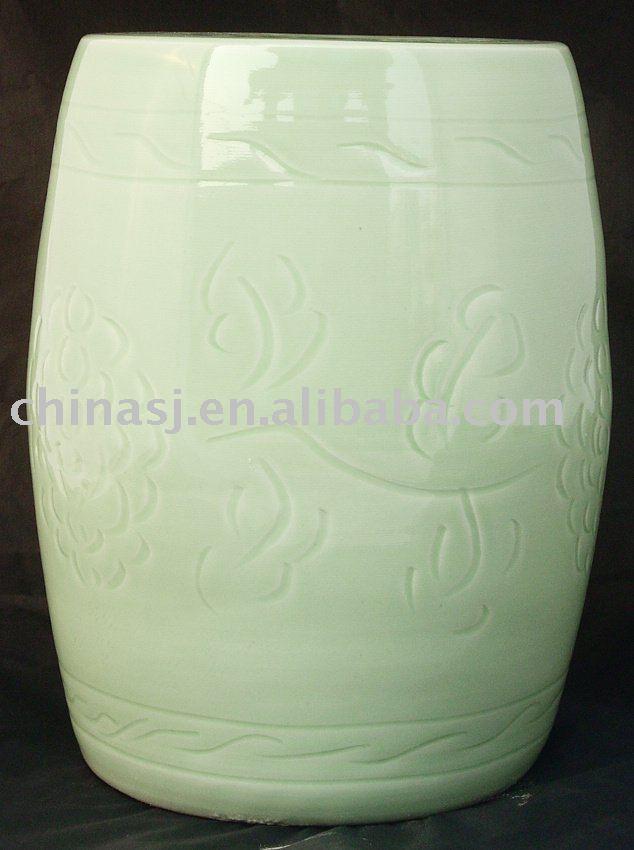 WRYAY201 Celadon green Ceramic Garden Seat