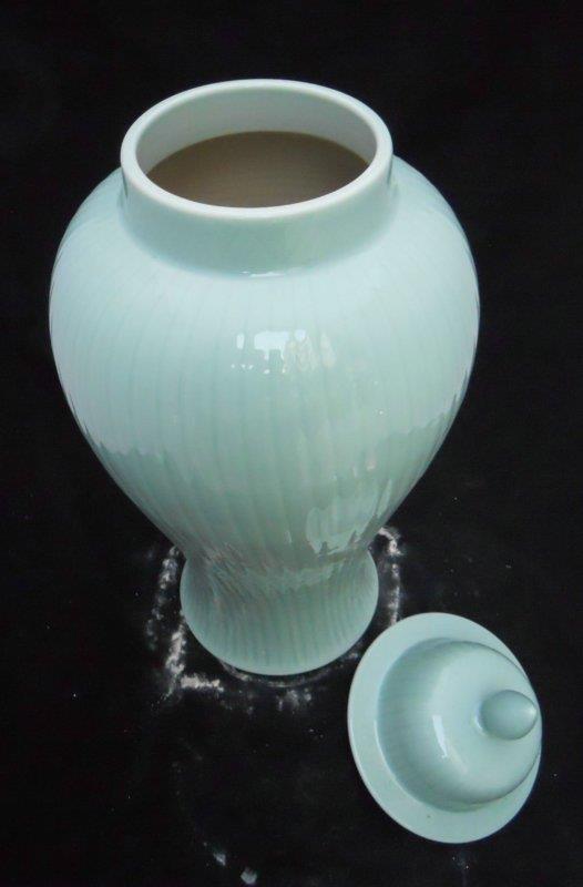 "WRYKB21 Green Celadon Ginger Jar 24.5"" H 62CM"