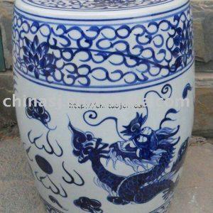 WRYLY04 Chinese dragon Ceramic Garden Stool