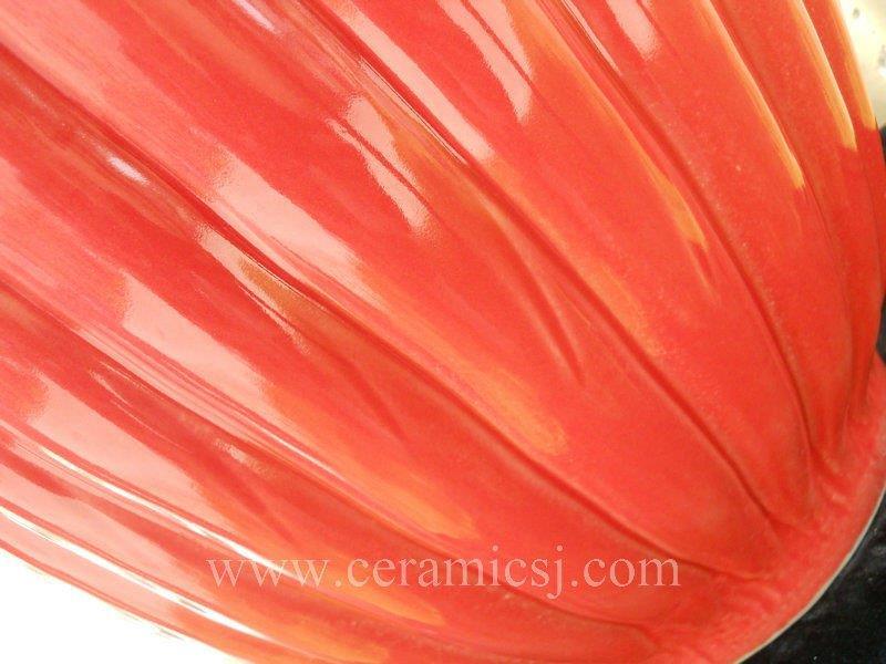 Red melon big ceramic jar WRYMA33