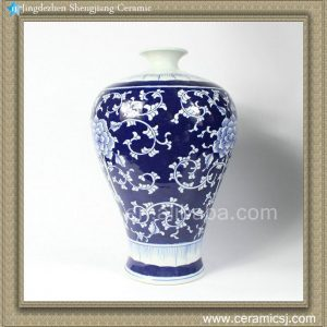 RYTA09 15 INCH Blue-and-white prunus vase