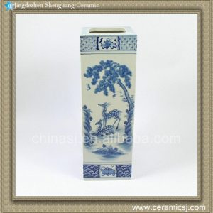RZAJ05 19.5inch Blue and White Vase
