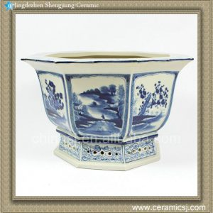 RZAJ07 15inch Blue and White Pot