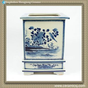RZAJ09 13inch Blue and White Planter