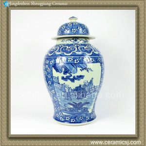 RZAO01 18inch Chinese B/W Temple Jar