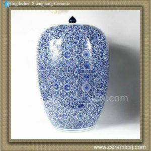 RZAP02 Blue and white Ceramic Jar