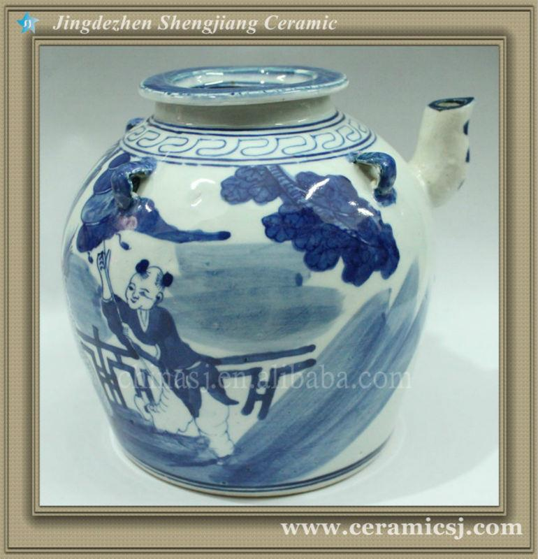 RYWK03 blue and white porcelain pitcher