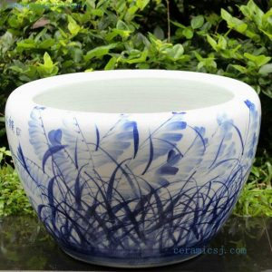RYYY04 21 inch Ceramic planter hand paint grass