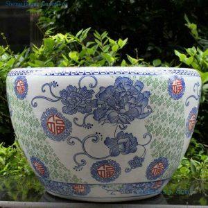 RYYY05 21 inch Hand paint flower Ceramic Pot
