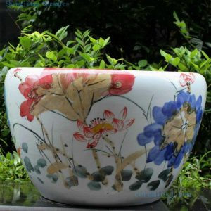 RYYY06 21 inch Hand paint flower ceramic bowl