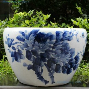 RYYY07 21 inch Blue white Ceramic Bowl