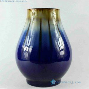 RZCJ07 12 inch High temperature Blue transmutation Porcelain Vase