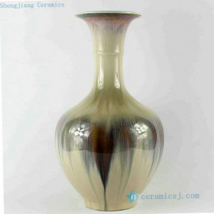RZCJ08 14 inch High temperature White Black Transmutation Porcelain Vase