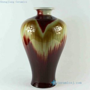 RZCJ14 13.5 inch High temperature Flame Red Transmutation Porcelain Vase