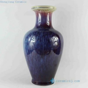 RZCJ19 15.5 inch High temperature Feather Glaze Transmutation Porcelain Vase