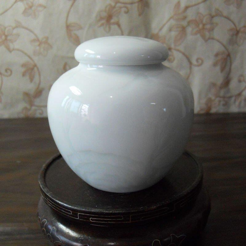 small celadon porcelain jar with sealed cover WRYAA23