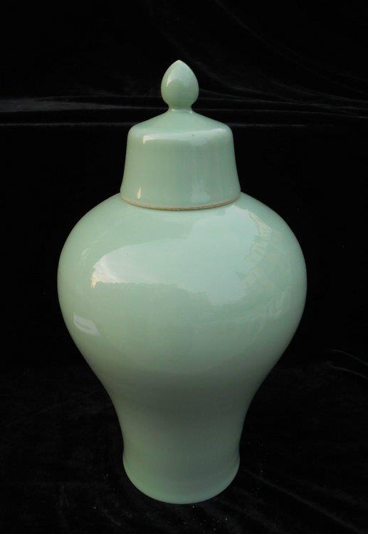 celadon porcelain vase porcelain jar with cover WRYKX11