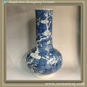 RYWG03 Hand paint Plum Bloosom Cobalt Blue Vases